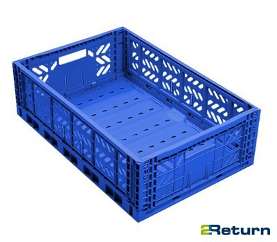 Foldable plastic container